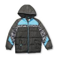 Athletech Boy's Winter Puffer Coat - Colorblock at Sears.com