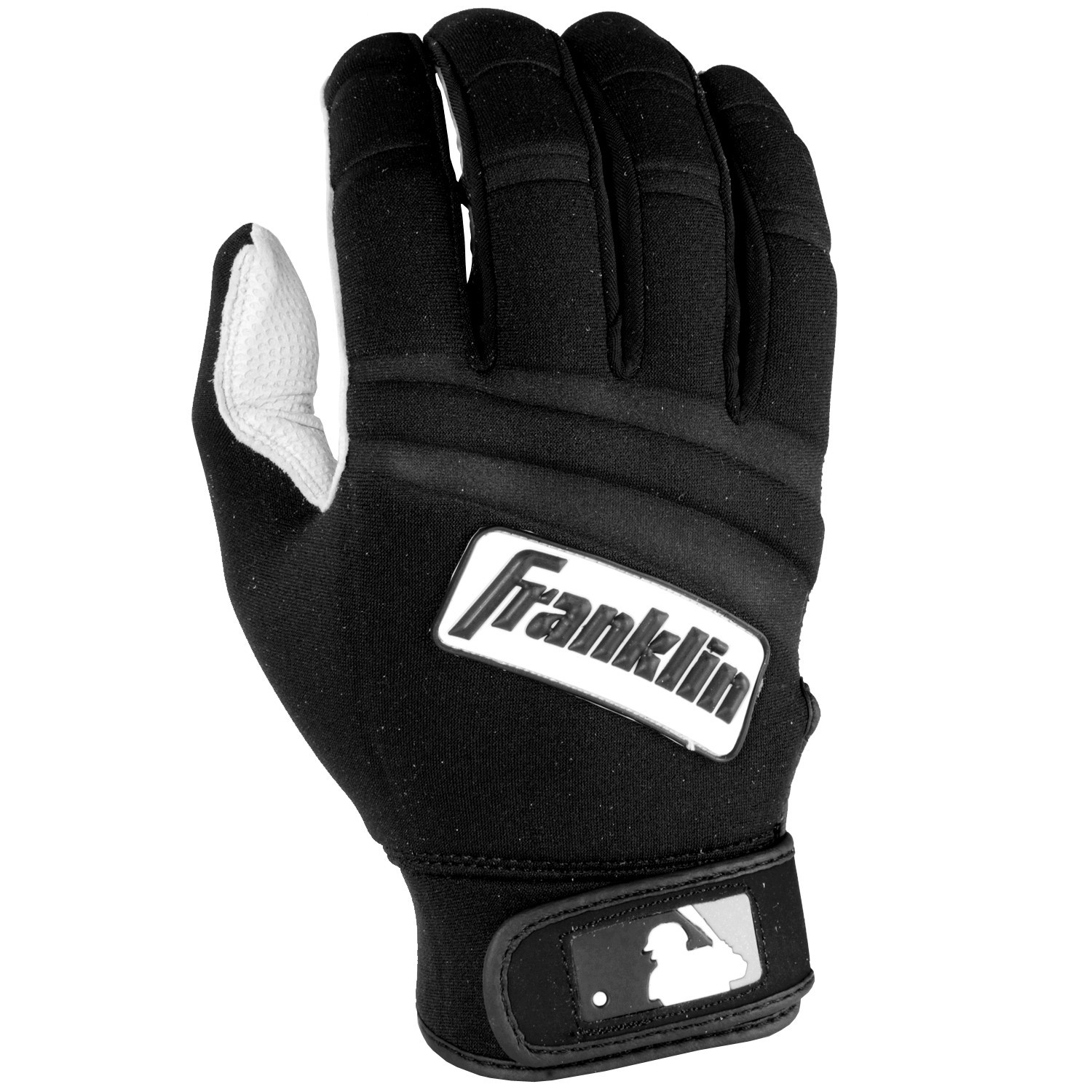 Franklin Sports MLB Adult Cold Weather Batting Glove Pearl/Black Medium PartNumber: 00605806000P KsnValue: 2301590 MfgPartNumber: 10184F2