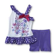 WonderKids Infant & Toddler Girl's One-Shoulder Top & Bike Shorts at Kmart.com