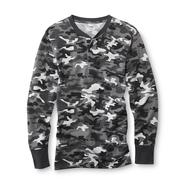 Joe Boxer Men's Thermal Henley Shirt - Camouflage at Kmart.com