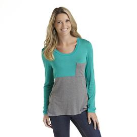 Joe by Joe Boxer Women's Pocket Shirt - Colorblock at Sears.com