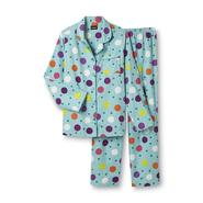 Joe Boxer Women's Plus 2-Piece Flannel Pajama Set - Polka Dot at Kmart.com