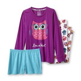 Joe Boxer Women's 3-Piece Knit Pajamas - Owls at Kmart.com
