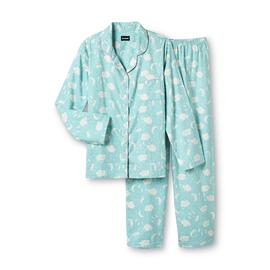Joe Boxer Women's 2-Piece Flannel Pajama Set - Sweet Dreams/Clouds at Kmart.com