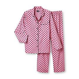 Joe Boxer Women's 2-Piece Flannel Pajama Set - Polka Dot at Kmart.com