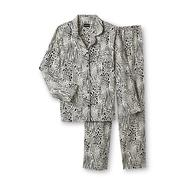 Joe Boxer Women's 2-Piece Flannel Pajama Set - Animal Print at Kmart.com