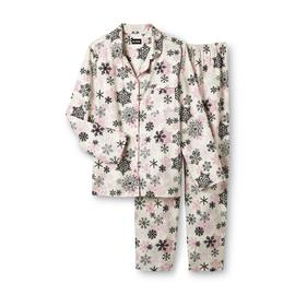 Joe Boxer Women's 2-Piece Flannel Pajama Set - Snowflake at Kmart.com