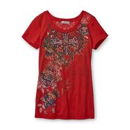 Southpole Junior's Lace-Back T-Shirt - Floral at Sears.com
