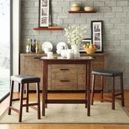 Oxford Creek 3 piece Counter-height Dining Set in Cherry Finish at Kmart.com