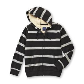 Basic Editions Men's Hoodie Jacket - Striped at Kmart.com