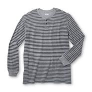 Basic Editions Men's Big & Tall Thermal Henley Shirt - Striped at Kmart.com