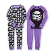 Joe Boxer Girl's 4-Piece Graphic Pajamas - Skull at Kmart.com