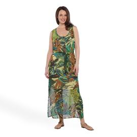 Robbie Bee Women's Maxi Dress - Tropical Foliage at Sears.com