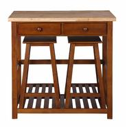 Dorel Asia Kitchen Island with Stools at Kmart.com