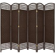 Oriental Furniture 5 1/2 ft. Tall Fiber Weave Room Divider - 6 Panel - Dark Mocha at Kmart.com