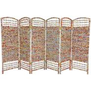 Oriental Furniture 4 ft Tall Recycled Magazine Room Divider - 6 Panel at Kmart.com