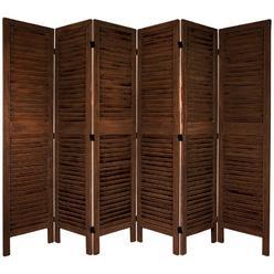 Oriental Furniture 5 1/2 ft. Tall Classic Venetian Room Divder -6 Panel - Burnt Brown at Kmart.com