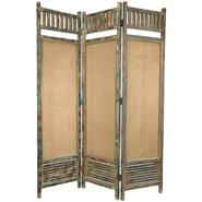 Oriental Furniture 6 Ft. Tall Antiqued Wooden Railing Room Divider at Kmart.com