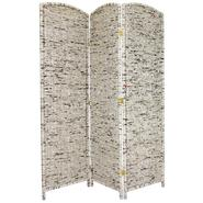 Oriental Furniture 6 ft. Tall Recycled Newspaper Room Divider - 3 Panel at Kmart.com