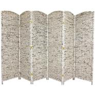 Oriental Furniture 6 ft. Tall Recycled Newspaper Room Divider - 6 Panel at Kmart.com