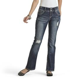Almost Famous Women's Destructed Bootcut Jeans at Sears.com