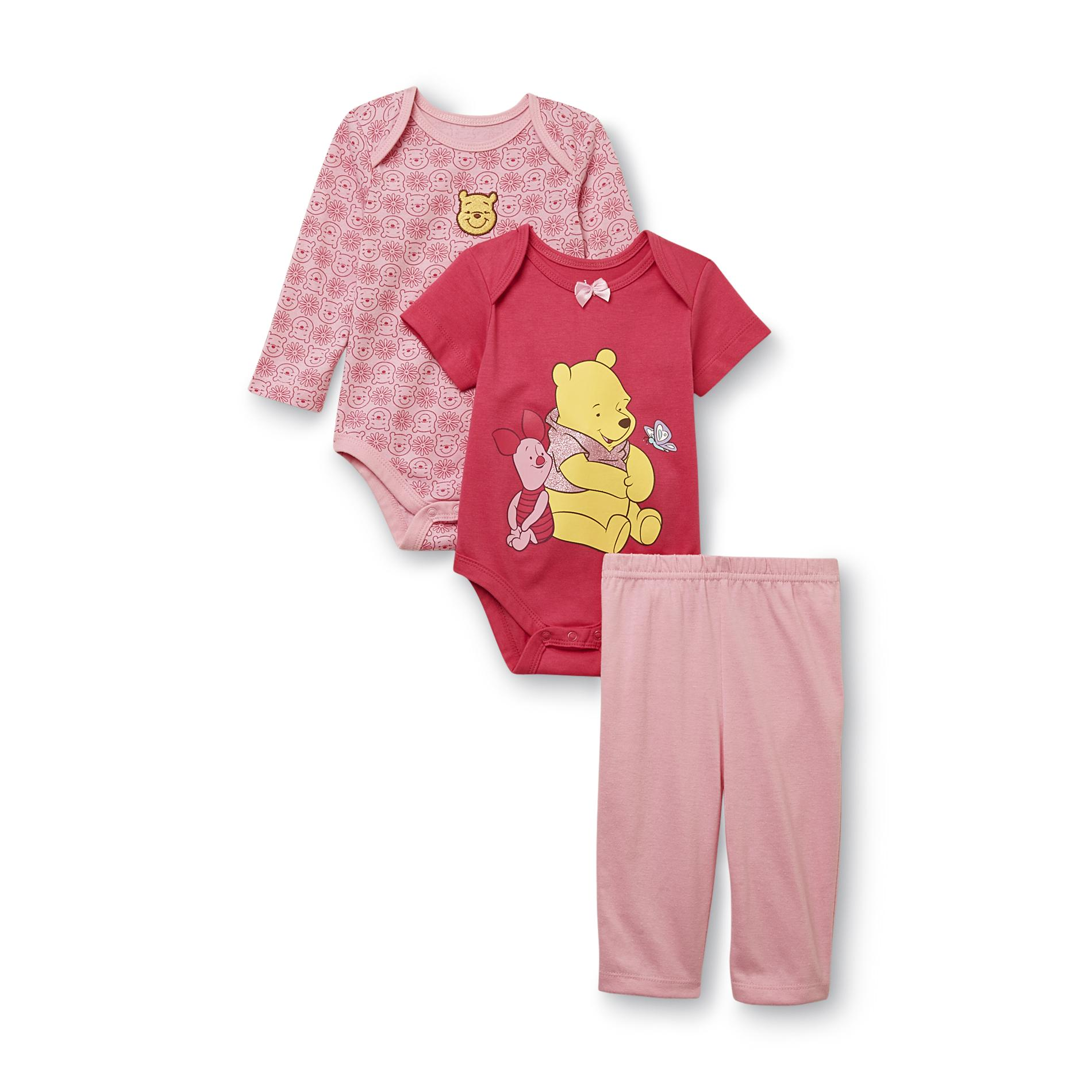 Pooh & Piglet Newborn Girl's Bodysuits & Pants