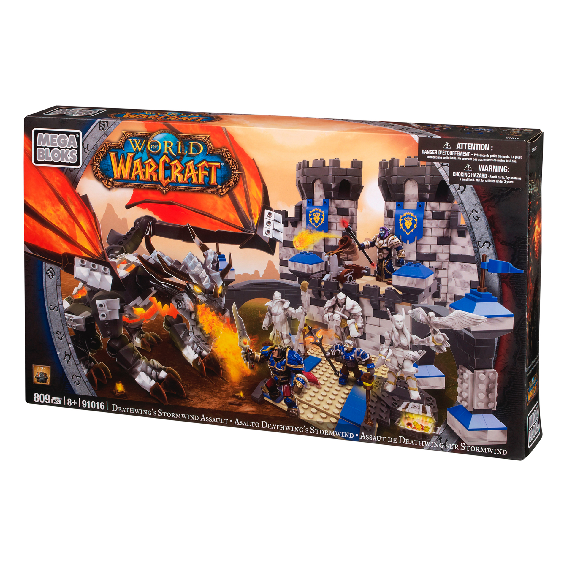 Mega Bloks World of Warcraft Deathwing's Stormwind Assault PartNumber: 004V006375386000P KsnValue: 004V006375386000 MfgPartNumber: 170334