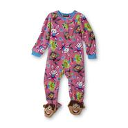 Joe Boxer Infant & Toddler Girl's Fleece Footie Pajamas - Animals at Kmart.com