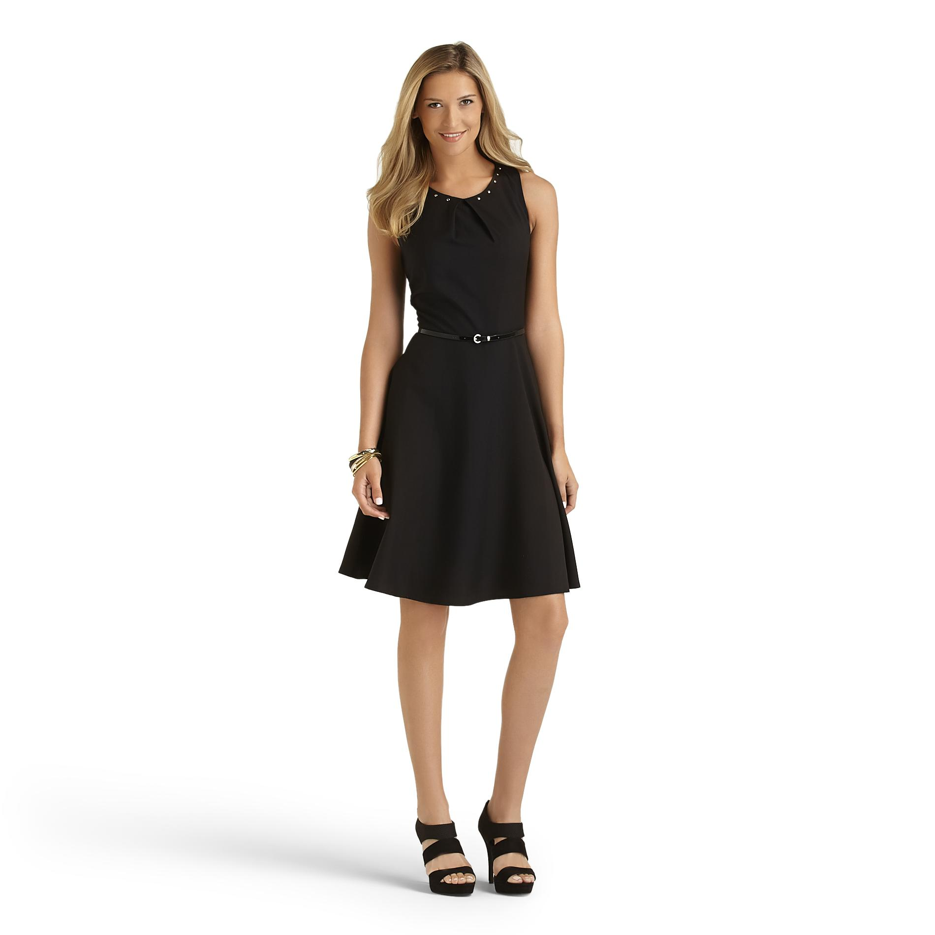 Women's Sleeveless Dress & Belt
