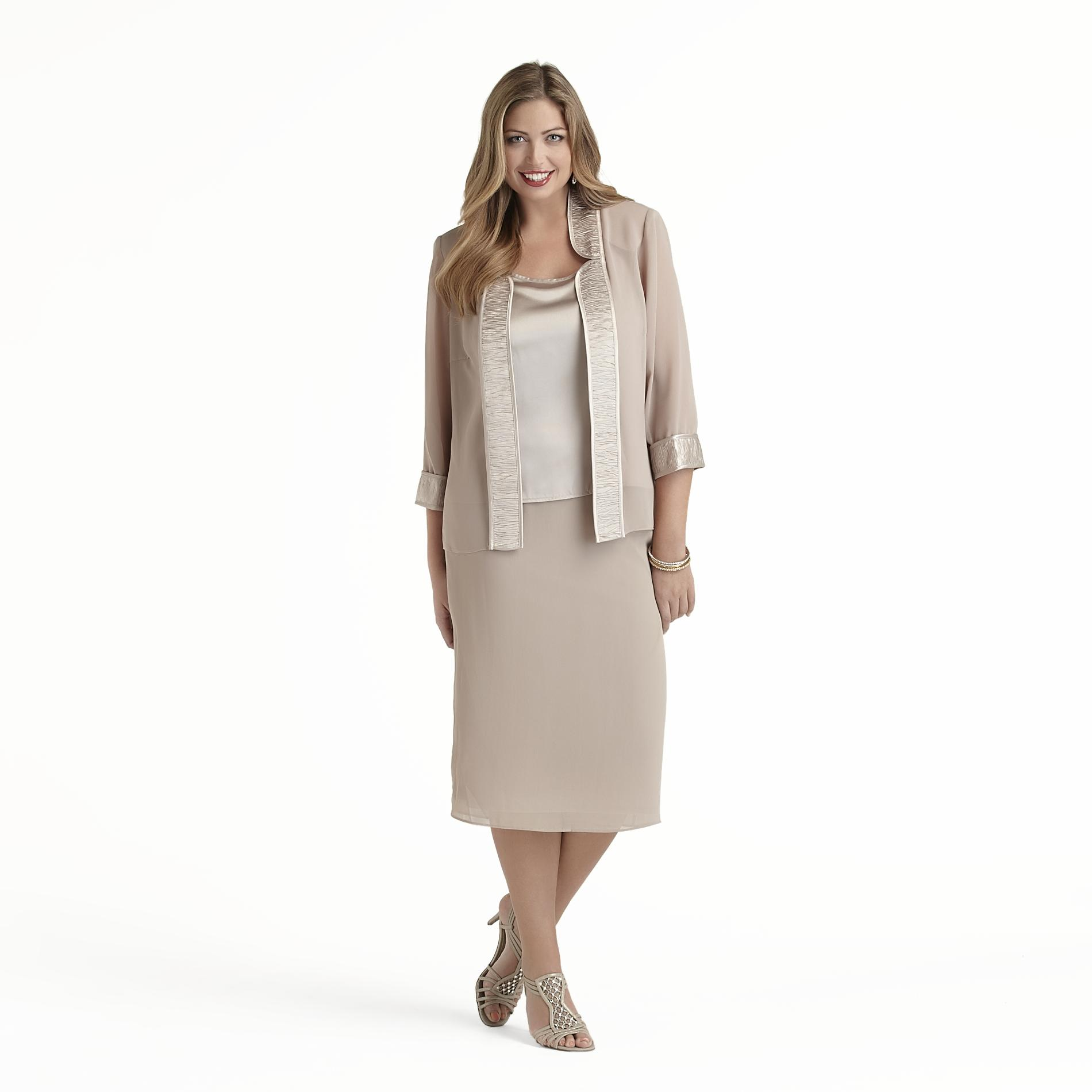 Dana Kay Women's Plus Jacket, Skirt & Top at Sears.com