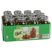 Ball Mason Jars, Regular Mouth, for Preserving, Quart, 12 - 32 oz (1 qt) jars at Kmart.com