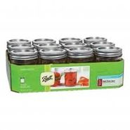 Ball Mason Jars, Regular Mouth, Half Pint (8 oz), 12 jars at Kmart.com