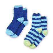 Joe Boxer Women's 2 Pairs Cozy Crew Socks - Striped at Sears.com