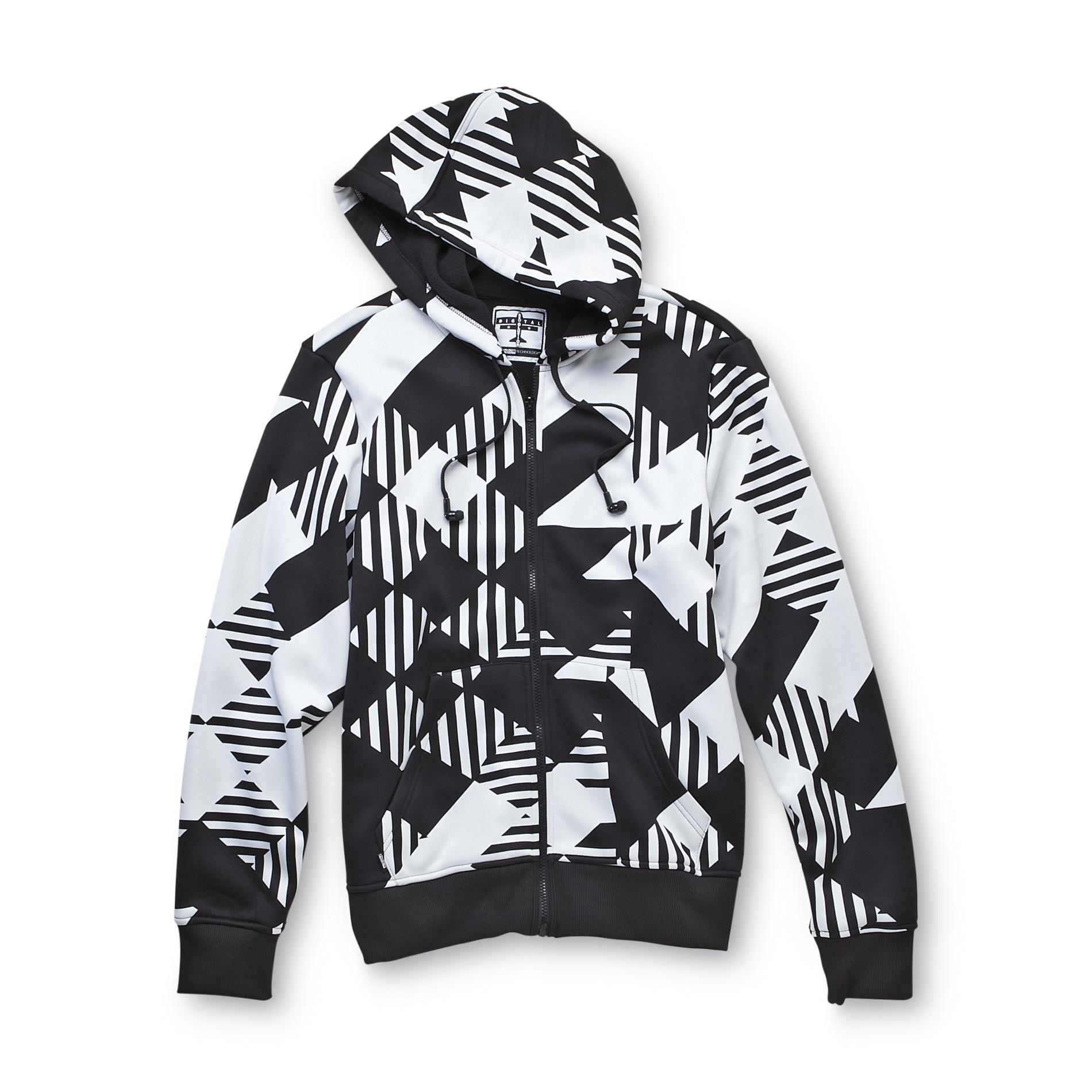Men's HB3 Fleece Hoodie Jacket - Digital Check