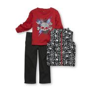WonderKids Infant & Toddler Boy's T-Shirt, Vest & Pants - Skull at Kmart.com