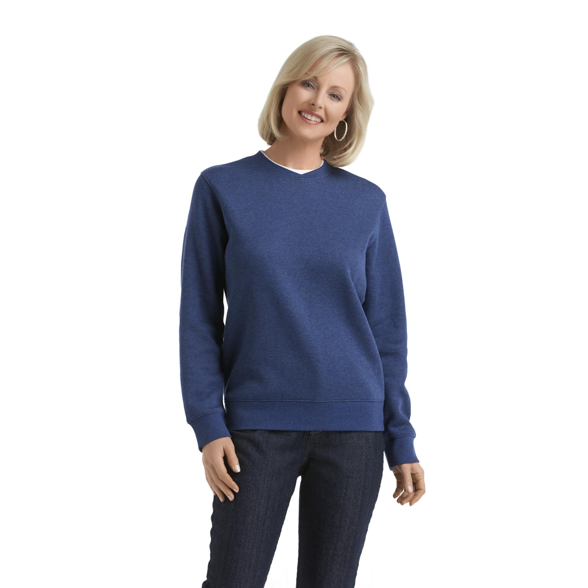 Laura Scott Women's Fleece Sweatshirt - Layered Look at Sears.com