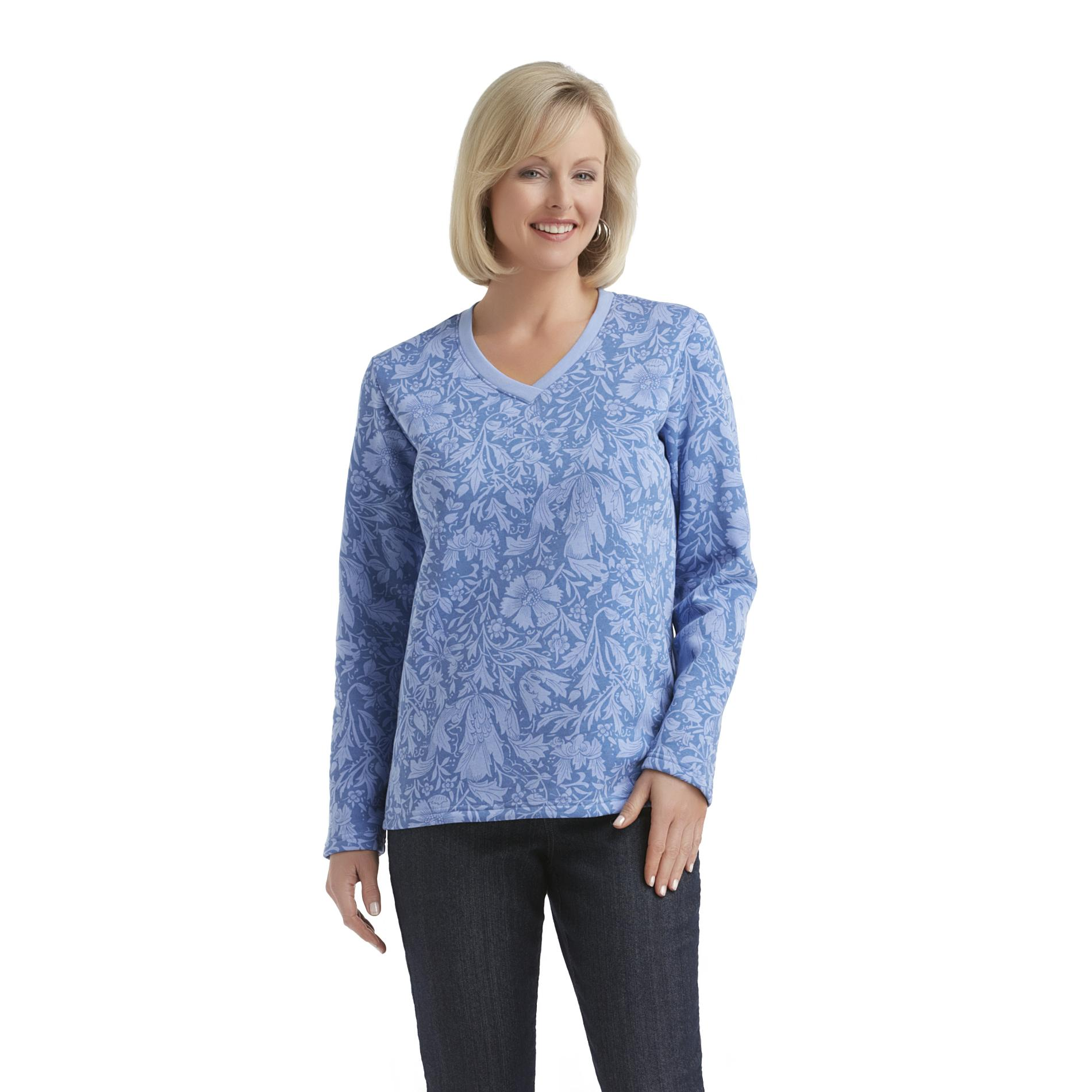 Laura Scott Women's Fleece V-Neck Sweatshirt - Paisley at Sears.com
