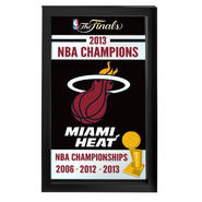 Miami Heat 2013 NBA Champions NBA Framed Logo Mirror at Kmart.com