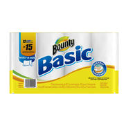 Bounty Basic Select-A-Size Paper Towels, 12  Large Rolls, White at Kmart.com