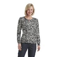 Laura Scott Women's Cardigan Sweater - Zebra at Sears.com