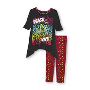Piper Girl's Pajama Top & Pants - Peace & Love at Kmart.com
