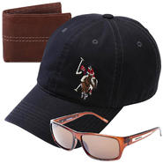 U.S. Polo Assn. Men's Baseball Cap - Large Logo with Sunglasses & Wallet Bundle at Sears.com