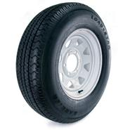 Loadstar Karrier 225/75R-15 LRD Radial Trailer Tire and 6-Hole Custom Spoke Wheel (6x5.5) at Sears.com