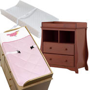 Stork Craft Carrara 2 Drawer Changing Table with Changing Pad & Cover Bundle at Kmart.com