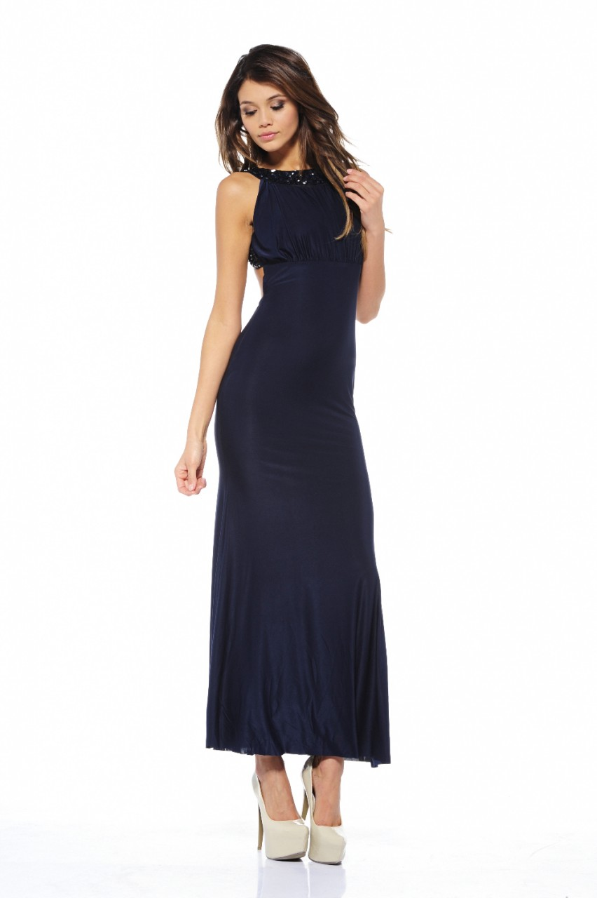 AX Paris Women's Jewel Strap Backless Navy Maxi - Online Exclusive at Kmart.com
