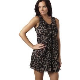 AX Paris Women's Chiffon Animal Print Dress - Online Exclusive at Kmart.com