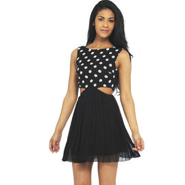 AX Paris Women's Spot Print Cut Out Dress - Online Exclusive at Sears.com