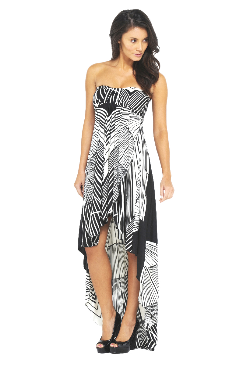 AX Paris Women's Strip Bandeau Drop Back Maxi Dress - Online Exclusive at Sears.com