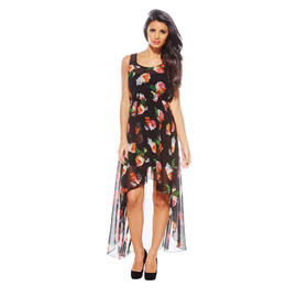 AX Paris Women's Floral Drop Back Black Dress - Online Exclusive at Sears.com