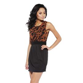 AX Paris Women's Animal Print Two In One Dress - Online Exclusive at Kmart.com
